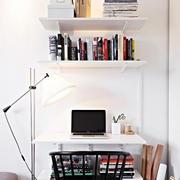 90平米小户型北欧清新风格书房工作台装修效果图