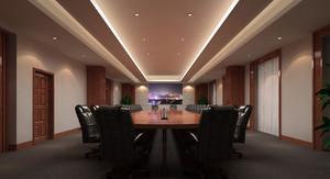 办公楼时尚风格会议室装修效果图