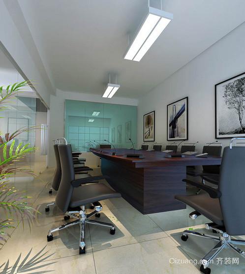 简约风格40平米会议室装修效果图