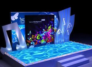 大型演唱会舞台灯光装修设计效果图