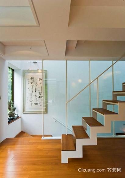 90平米欧式室内楼梯装修效果图实例欣赏