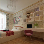 现代简约风格小户型卧室壁纸装修效果图