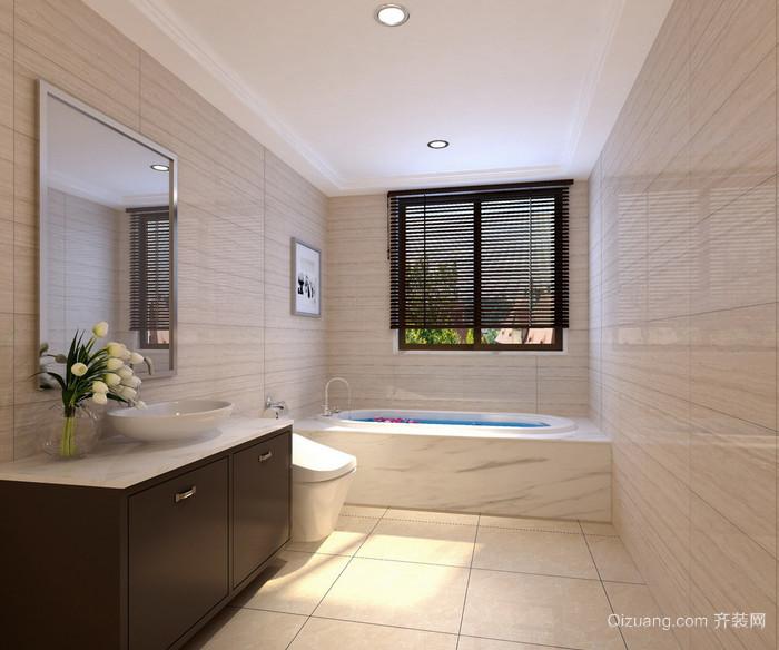 现代欧式大户型卫生间萨米特瓷砖装修效果图