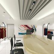 都市风格45平米小服装店装修效果图
