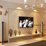 现代30平米客厅硅藻泥电视墙背景效果图