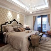 欧式大户型精致的卧室软包背景墙装修效果图