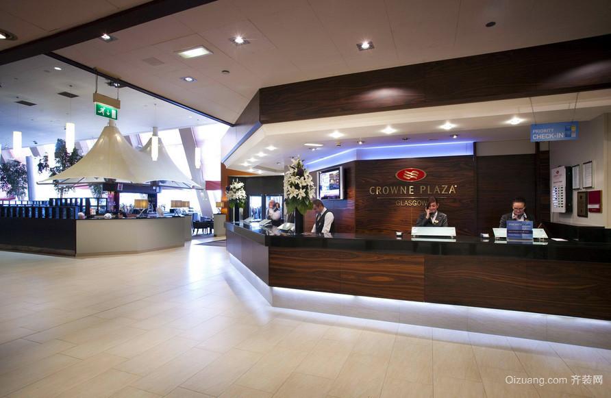 现代酒店大型餐厅吧台装修设计效果图