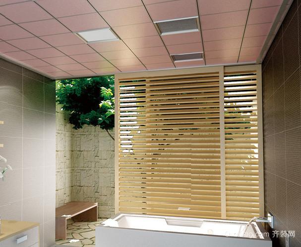 复式楼日式简约风格卫生间集成吊顶装修图