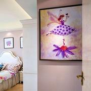 简约别墅卧室床头照片墙装饰