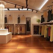 马路旁50平米小服装店装修效果图