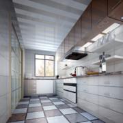 欧式大户型唯美厨房装修设计效果图鉴赏