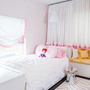 韩式清新风格白色系儿童房装修效果图