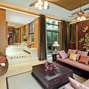 东南亚风格别墅客厅设计