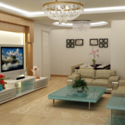 现代唯美欧式大户型客厅装修效果图鉴赏