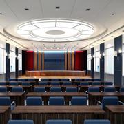 现代会议室造型图