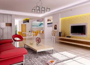 复式楼清爽系列硅藻泥电视背景墙图片