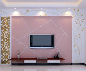 别墅环保型硅藻泥电视背景墙图片