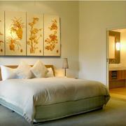温馨三室一厅卧室3d背景墙装修图片