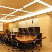 暖色调会议室整体图