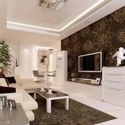 欧式田园风格客厅影视墙装饰