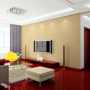 复式楼清新风格硅藻泥电视背景墙图片