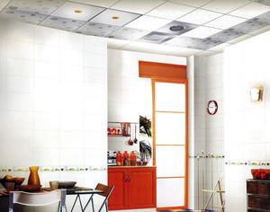 30平米北欧清新白色系厨房集成吊顶展示图