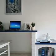 地中海风格复式楼家装工作台装修效果图