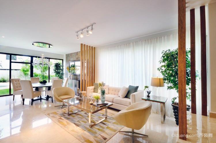 两厅室大户型小清新风格婚房装修效果图