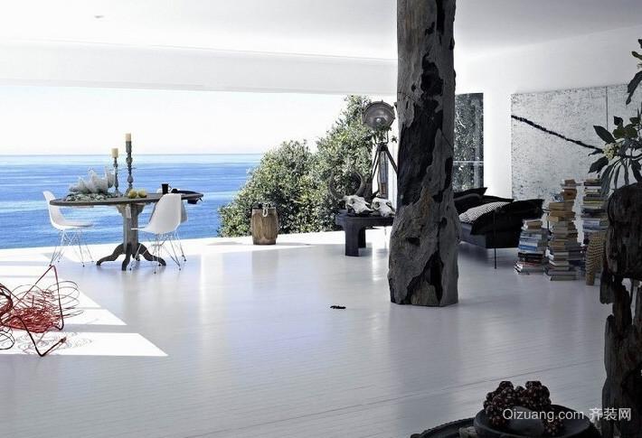 独具造型海景别墅装修效果图