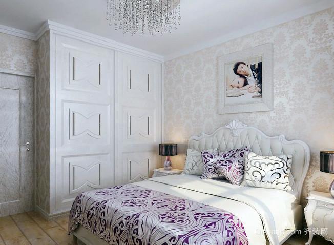 小洋楼欧式田园风格白色系卧室衣柜装修效果图