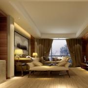 90平米现代大户型欧式客厅装修效果图欣赏