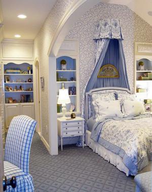 欧式奢华公主系儿童房卧室衣柜装修效果图
