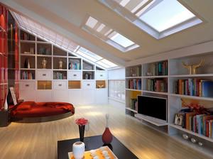 摩登时尚40平米小户型阁楼装修效果图