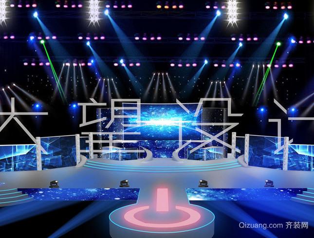 现代简约风格大型公司晚会舞台装修效果图