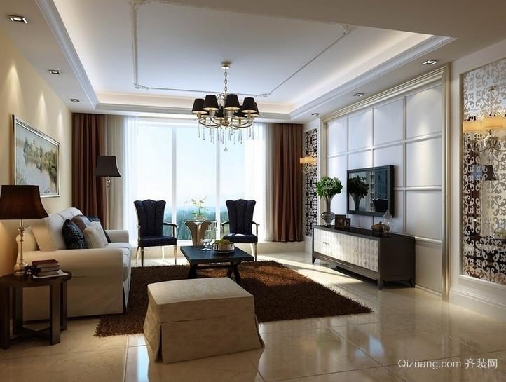 欧式精致小公寓客厅装修效果图实例鉴赏