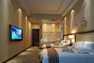 大型酒店卧室双人间装修设计效果图