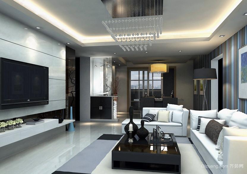 后现代风格90平男士公寓客厅装修效果图