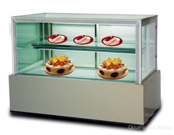 50平米小型街道蛋糕房蛋糕展示柜装修图