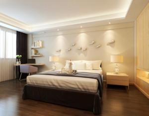 70平米欧式小户型卧室床头背景墙装修效果图