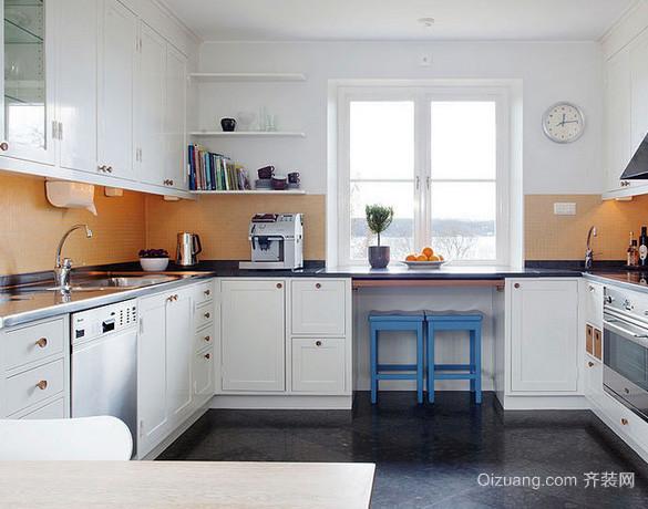 复式楼欧式风格厨房装修设计效果图