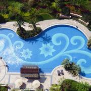 现代游泳池整体图
