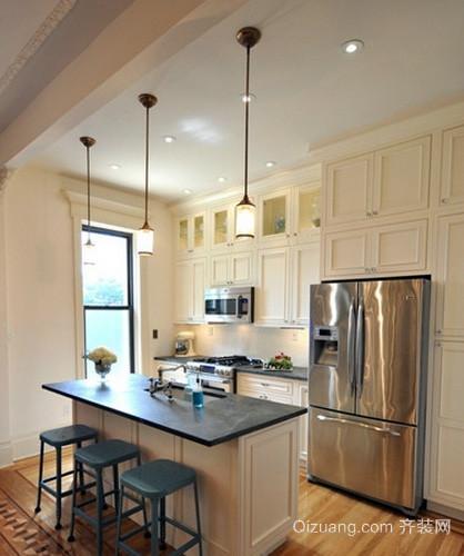 跃层美式简约风格厨房集成吊顶装修效果图