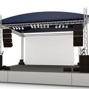 小型街角现代简约便利舞台背景墙装修效果图