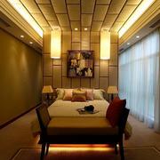 东南亚风格别墅卧室吊顶装饰