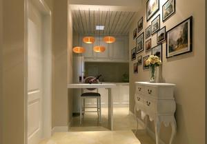 简欧120平米家居过道照片墙设计效果图