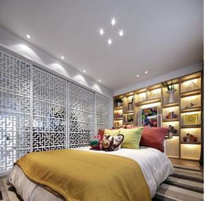 新中式摩登时尚100平米房屋装修效果图