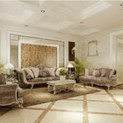 现代欧式大户型功能沙发背景墙装修效果图