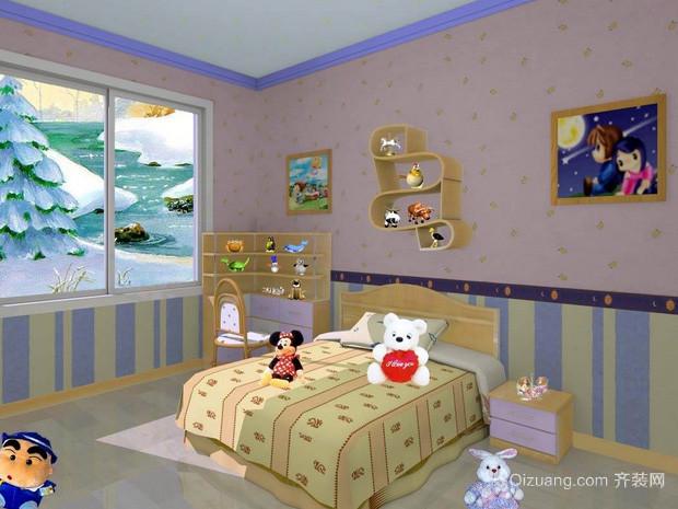 现代简约风格清新儿童房装修效果图