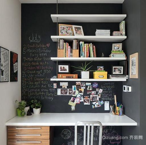 都市混搭风格卧室简约工作台装修效果图