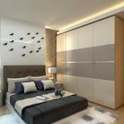 30平米现代简约风格卧室木制衣柜装修效果图